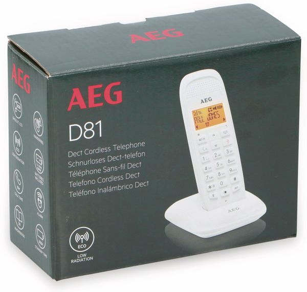 DECT-Telefon AEG D81, weiß - Produktbild 2