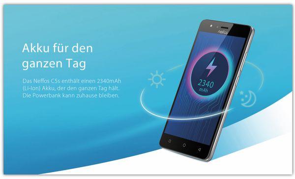 "Smartphone TP-LINK Neffos C5S, 5"", 8 GB, grau, inkl. 3350 mAh Powerbank - Produktbild 3"