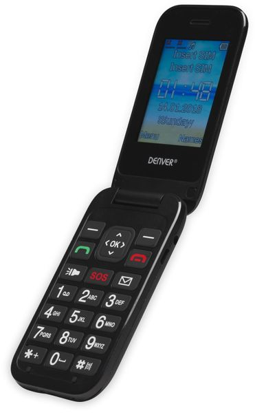 Handy DENVER BAS-24200M, schwarz - Produktbild 2