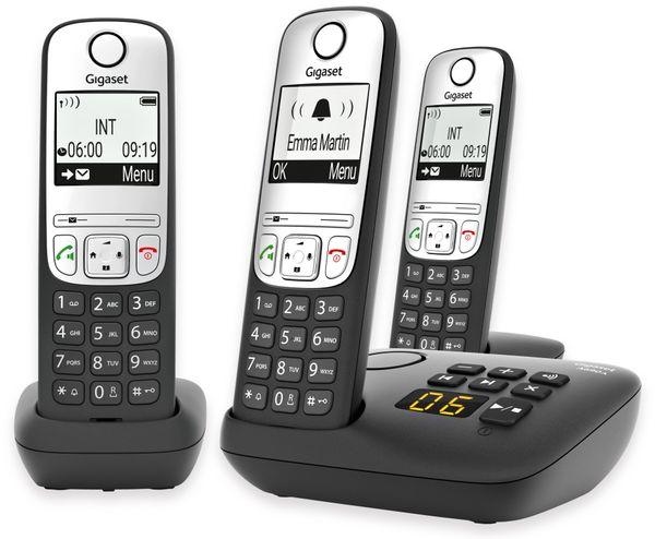 DECT-Telefon GIGASET A690A Trio, schwarz