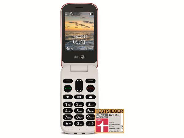 Handy DORO 6040, rot/weiß