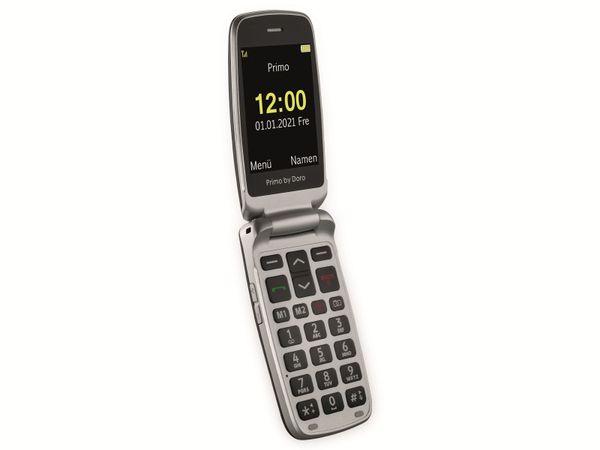Handy DORO Primo 418, schwarz/silber