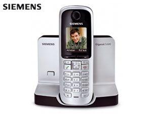 Schnurloses DECT-Telefon SIEMENS Gigaset S680 titanium - Produktbild 1