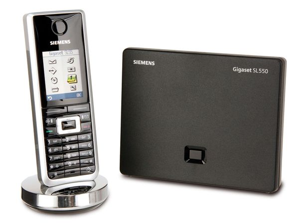 Schnurloses DECT-Telefon SIEMENS Gigaset SL550 shiny black - Produktbild 1