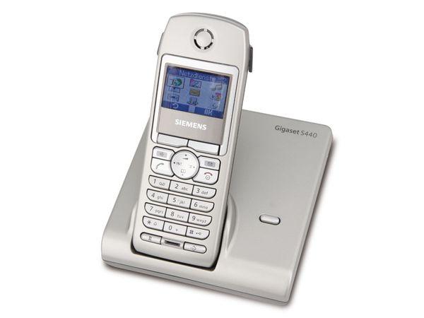 Schnurloses DECT-Telefon SIEMENS Gigaset S440 Liquid silver