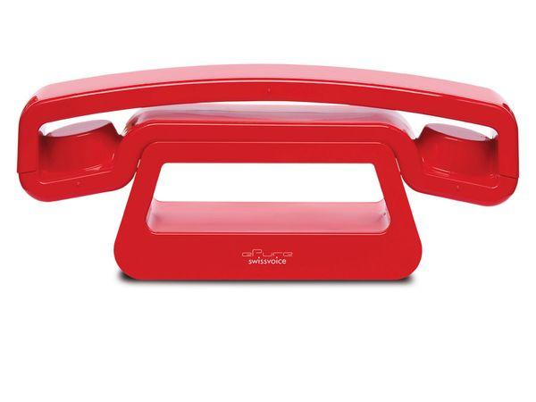 Design-Telefon SWISSVOICE ePure, rot - Produktbild 1