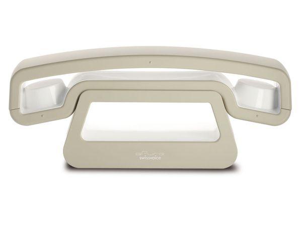 Design-Telefon SWISSVOICE ePure, weiß/beige - Produktbild 1