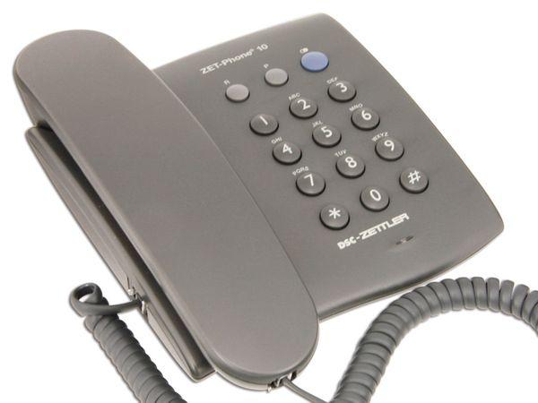 Telefon DSC-ZETTLER ZET-PHONE 10, schwarz - Produktbild 1