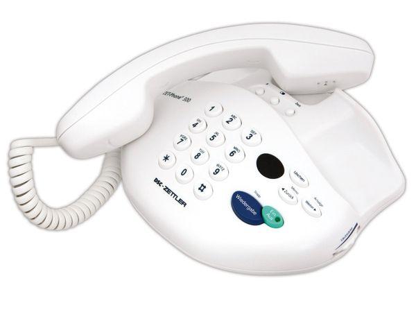 Telefon mit Anrufbeantworter DSC-ZETTLER ZET-PHONE 300, weiß - Produktbild 1