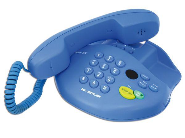 Telefon mit Anrufbeantworter DSC-ZETTLER ZET-PHONE 300, blau - Produktbild 1
