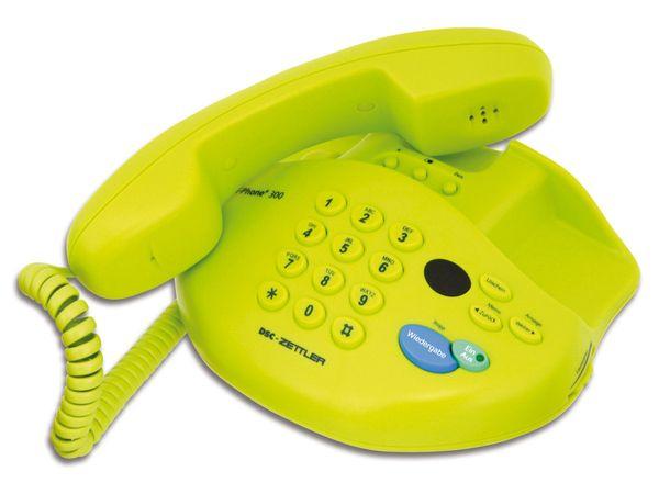Telefon mit Anrufbeantworter DSC-ZETTLER ZET-PHONE 300, grün - Produktbild 1