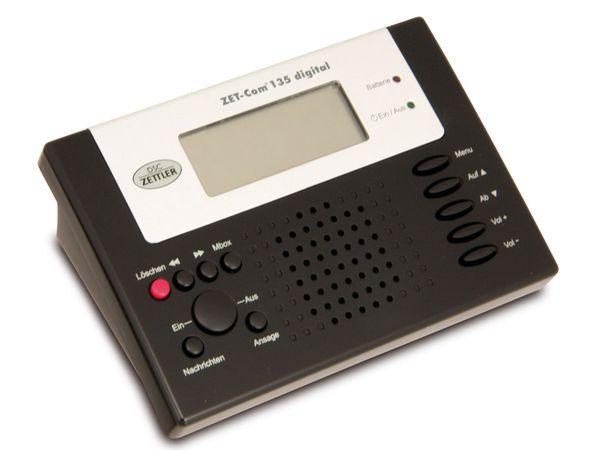 Digitaler Anrufbeantworter DSC-ZETTLER ZET-COM 135 schwarz