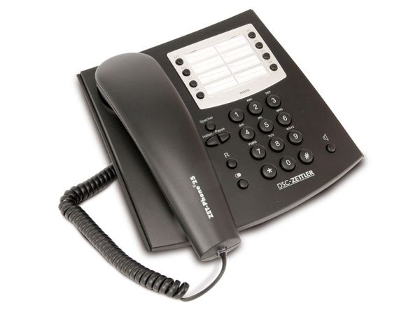 Telefon DSC-ZETTLER ZET-PHONE 25, schwarz - Produktbild 1