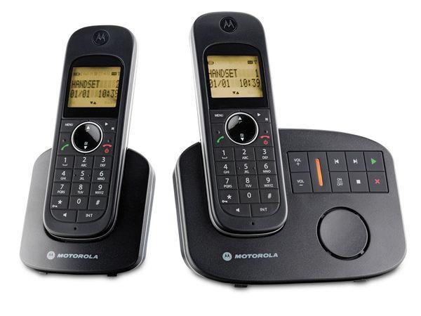 DECT-Telefone mit Anrufbeantworter MOTOROLA D1012 Twinset - Produktbild 1