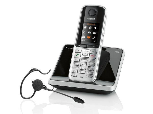 Schnurloses DECT-Telefon GIGASET S810, mit Headset - Produktbild 1