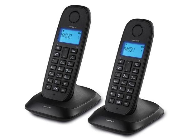 Telefon TOPCOM TE-5732, 2 Mobilteile, schwarz - Produktbild 1