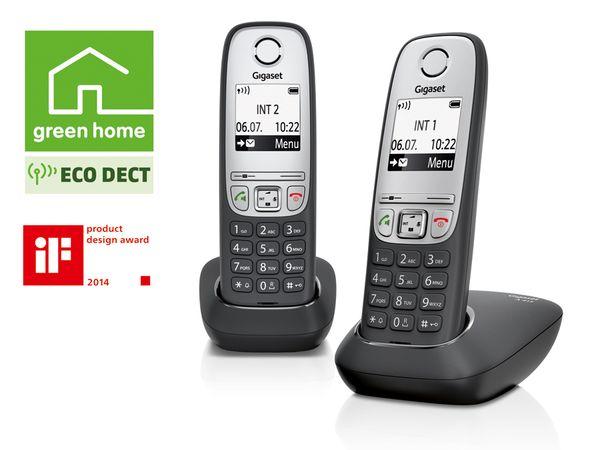 Schnurloses DECT-Telefon GIGASET A415 Duo, 2 Mobilteile