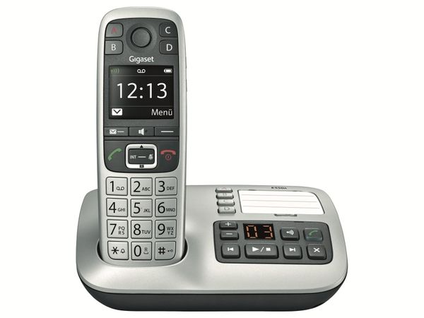 DECT-Telefon GIGASET E550A Platin