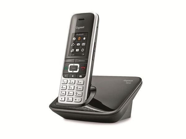Schnurloses DECT-Telefon GIGASET S850, platin-schwarz