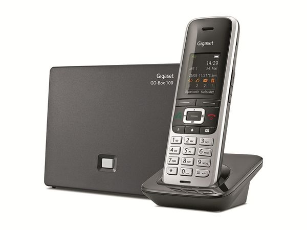 Schnurloses DECT-Telefon GIGASET S850 A GO, platin-schwarz - Produktbild 1