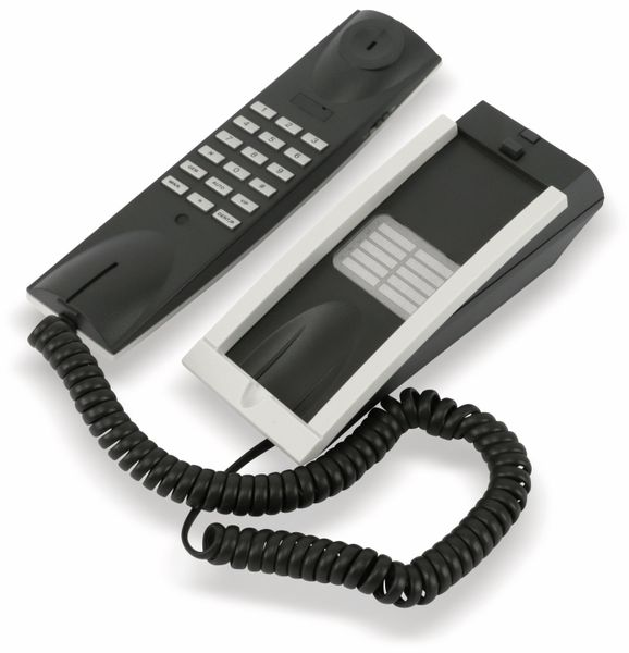 Telefon TELTEC TP-0127, weiß/dunkelgrau - Produktbild 1