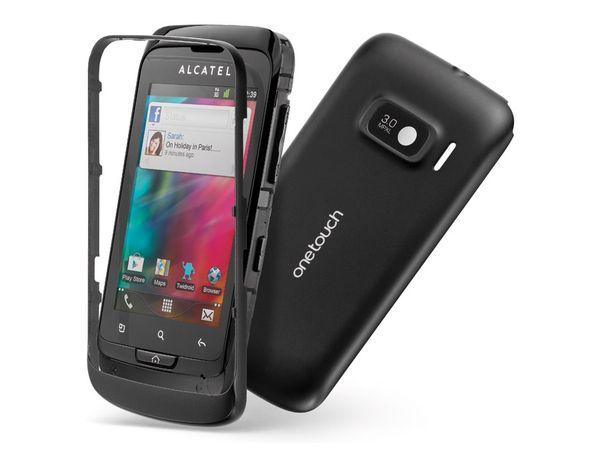 Dual-SIM Touchscreen-Handy ALCATEL ONE TOUCH 918D, black