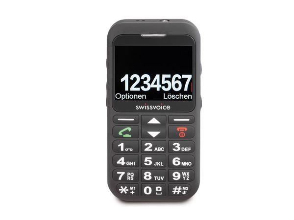 Großtasten-Mobiltelefon SWISSVOICE MP33, schwarz