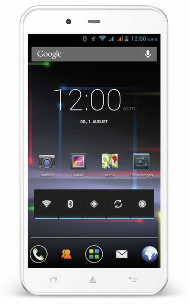 Dual-SIM Touchscreen-Handy AVUS A24, weiß - Produktbild 1
