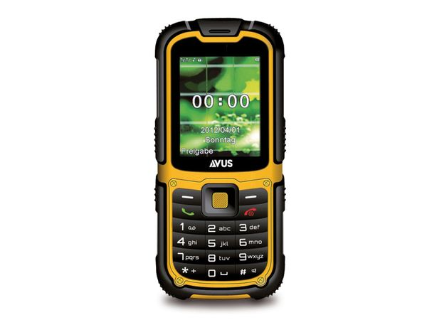 Outdoor-Handy AVUS R360, schwarz-gelb, Dual-SIM - Produktbild 1