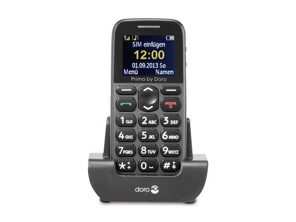 Großtasten-Mobiltelefon DORO, Primo 215, grau - Produktbild 1
