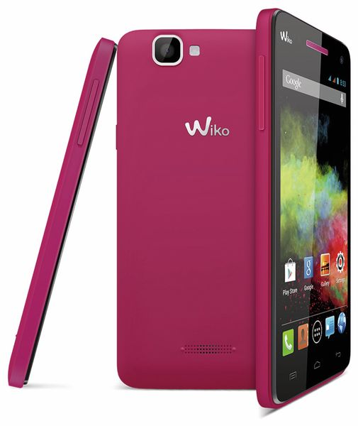 Dual-SIM Smartphone WIKO Rainbow, pink - Produktbild 1