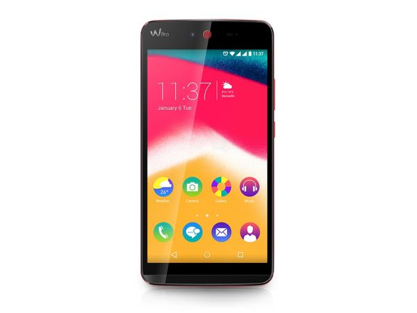 "Dual-SIM Smartphone WIKO Rainbow Jam, 5"", Android 5.1, 8 GB, koralle - Produktbild 1"
