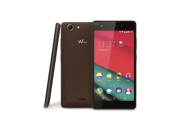 "Smartphone WIKO Pulp 4G, Dual-SIM, 5"", Android 5.1.1, Quad-Core, braun - Produktbild 1"
