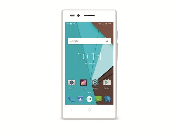"""Dual-SIM Smartphone SISWOO A5, Android, 5"""", LTE, weiß - Produktbild 1"""