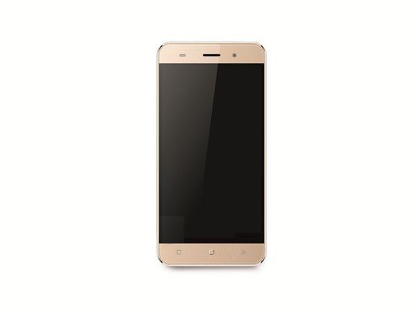 "Dual-SIM Smartphone MOBISTEL Cynus F7, 5"", Android 5.1, 8 GB, gold - Produktbild 1"