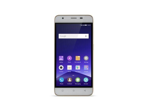 "Dual-SIM Smartphone MOBISTEL Cynus F9, 4,7"", Android 5.0, 16 GB, weiß/gold - Produktbild 1"