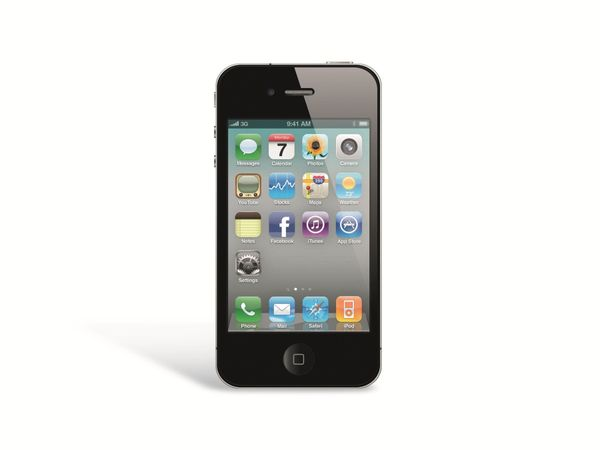 Smartphone APPLE IPHONE 4S, 16 GB, schwarz, Refurbished - Produktbild 1