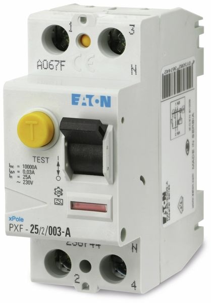 Fehlerstrom-Schutzschalter EATON PXF-25/2/003-A, 25/0,03 A