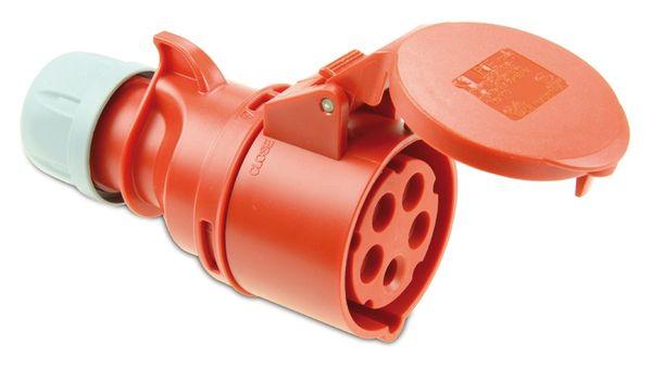 CEE-Kupplung PCE Shark, 5-polig, 400 V, 16 A, IP44