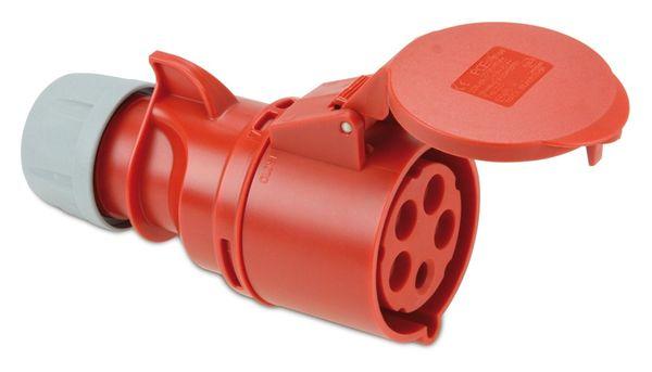 CEE-Kupplung PCE Shark, 5-polig, 400 V, 32 A, IP44 - Produktbild 1