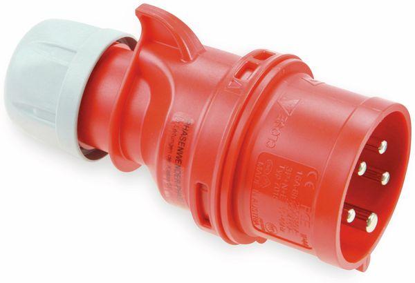 CEE Stecker mit Phasenwender PCE Shark, 5-polig, 16 A, 400 V, IP44