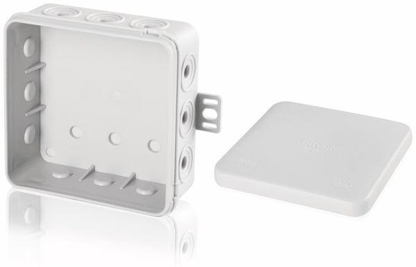 Verteilerdose, 100x100x40 mm, 12 Einführungen, grau - Produktbild 2