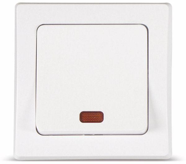 DELPHI Kontroll-Schaltereinsatz, 230 V, 10 A, weiß