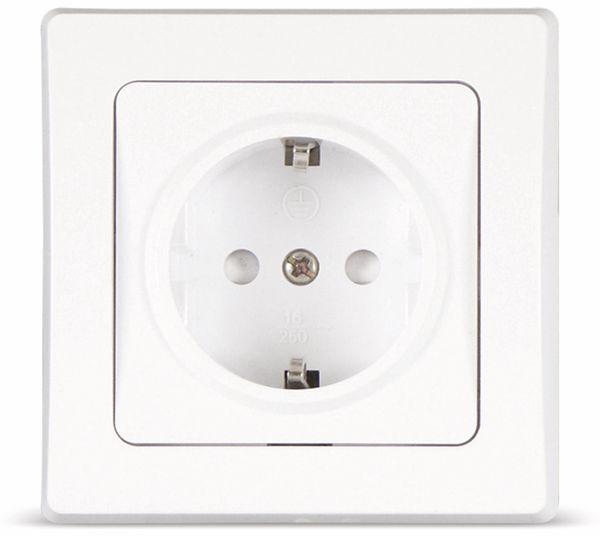 Schutzkontakt-Steckdose DELPHI, 16A/250V, weiß
