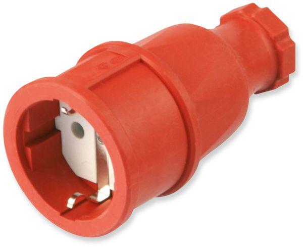 Gummi-Schutzkontaktkupplung PCE 2510-r, rot, IP20