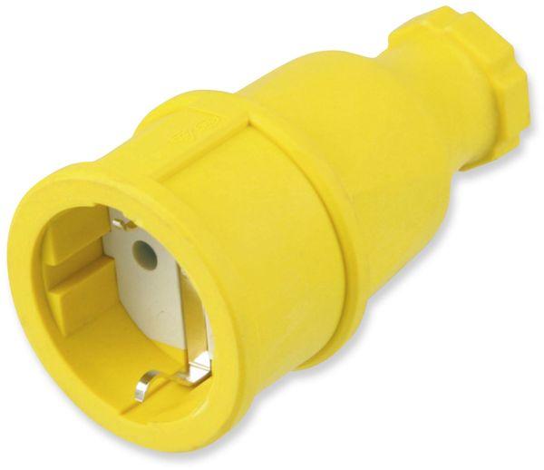 Gummi-Schutzkontaktkupplung PCE 2510-e, gelb, IP20