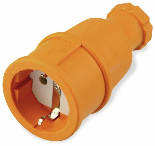 Gummi-Schutzkontaktkupplung PCE 2510-o, orange, IP20