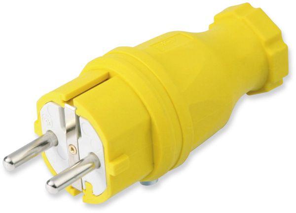 Gummi-Schutzkontaktstecker PCE, gelb, IP44
