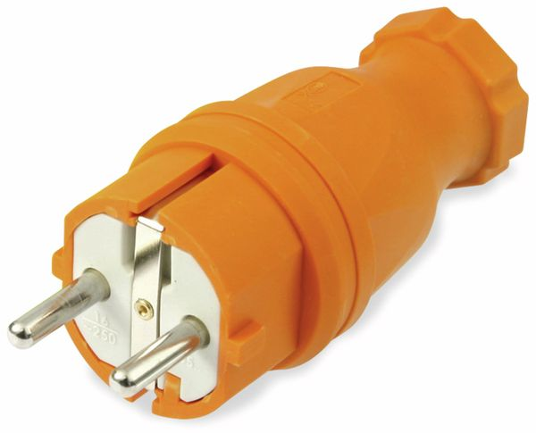 Gummi-Schutzkontaktstecker PCE, orange, IP44