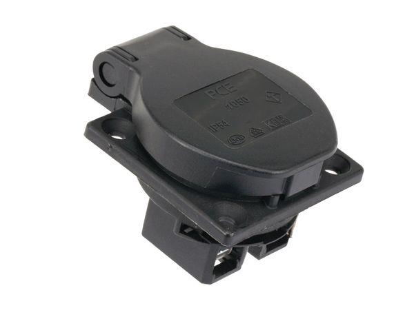 Schutzkontaktsteckdose PCE P-Nova Plus, schwarz, IP54